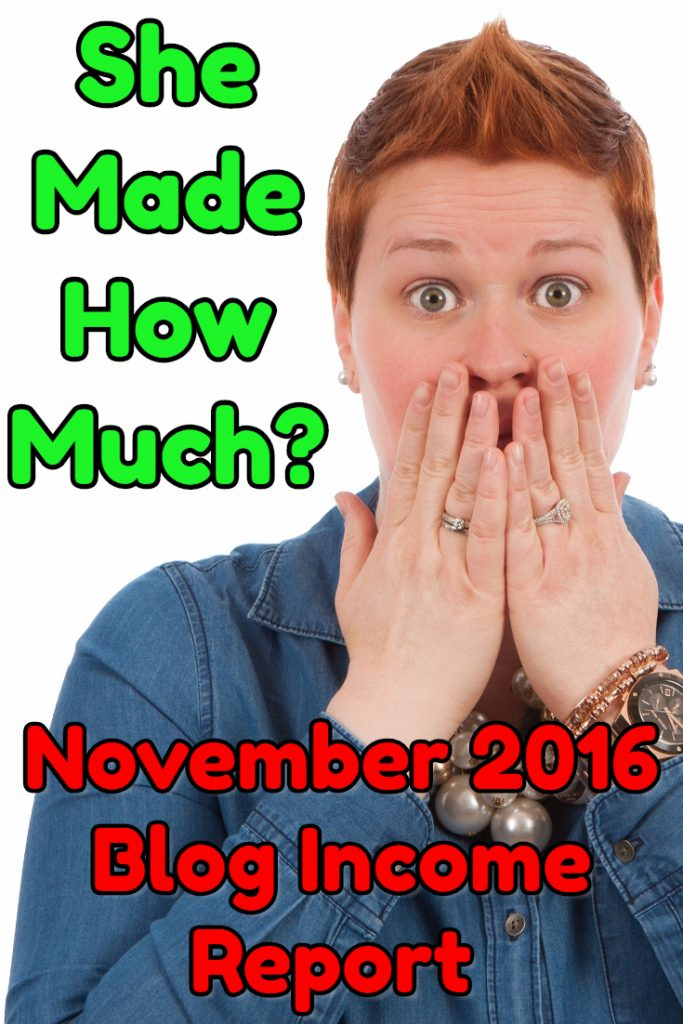A November 2016 Blog Income Report for the Record Books!