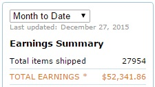 affiliate marketing income for one month